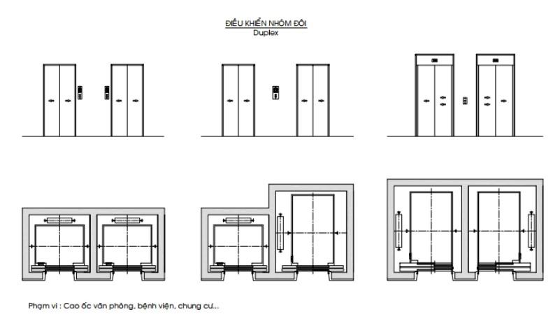 Bản vẽ thang máy chung cư