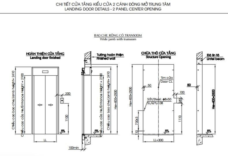 Thông số kỹ thuật thang máy chung cư