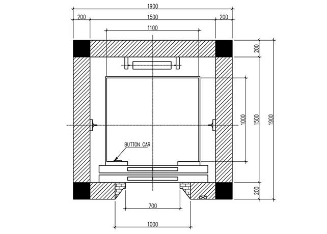 Kích thước hố thang máy tùy thuộc vào thang máy có tải trọng bao nhiêu kg