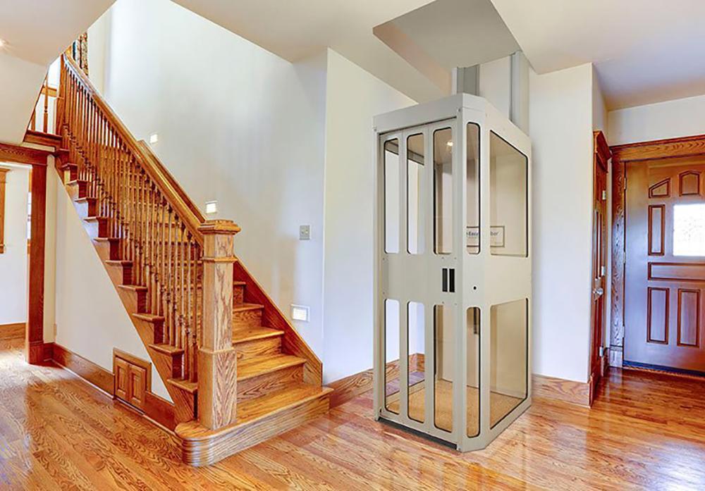 Thang máy gia đình có thiết kế rất đẹp và tinh tế.