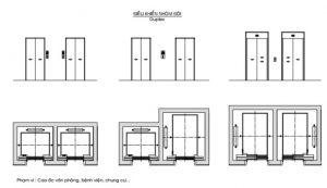 bản vẽ thang máy chung cư 1